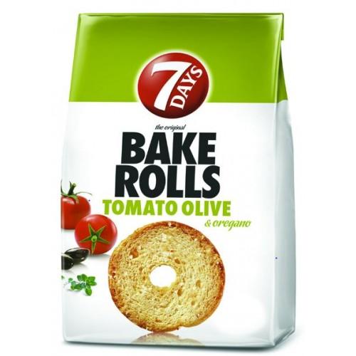 7 Days Bake Rolls Rosii si Oregano 80g *12