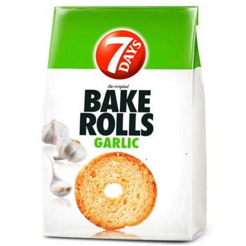 7 Days Bake Rolls Usturoi 80g *12