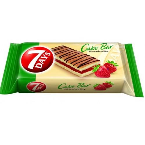 7 Days Cakebar Capsuni 30g *16