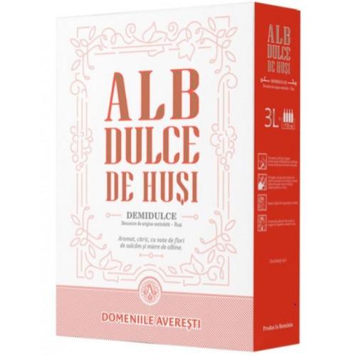 Domeniile Averesti Bag in box Vin de Husi,  DOC, alb demidulce 13.2% 3L *6