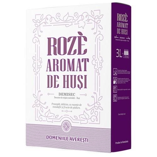Domeniile Averesti Bag in box Vin de Husi Aromatic, DOC rose demisec 13.3% 3L *6