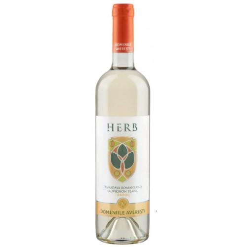 Domeniile Averesti Herb Tamaioasa Romaneasca & Sauvignon Blanc DOC alb demisec 14.5% 750 ml *6