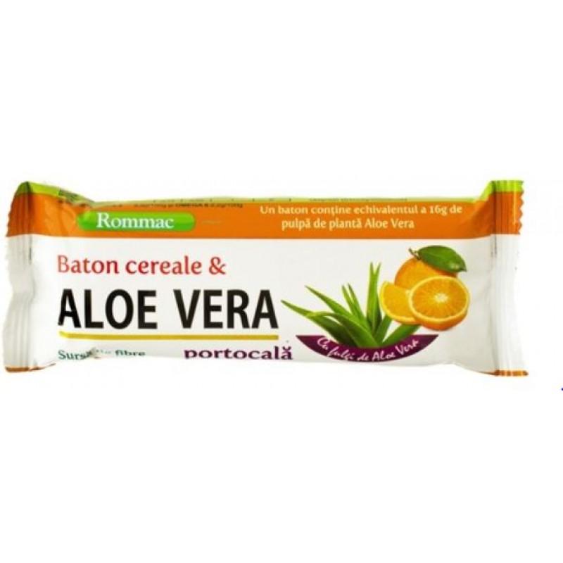 Rommac Baton Cereale Aloe Vera Portocala 40g *24