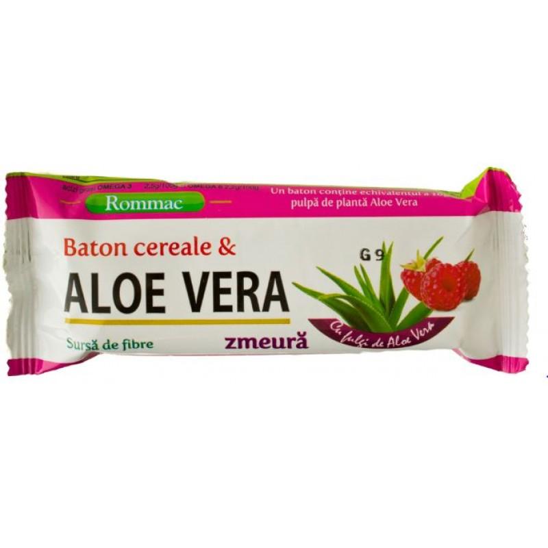 Rommac Baton Cereale Aloe Vera Zmeura 40g *24