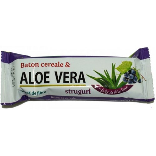 Rommac Baton Cereale Aloe Vera Struguri 40g *24