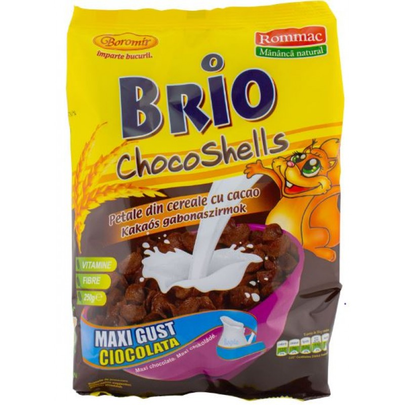 Rommac Cereale Brio Chocoshells 250g *10