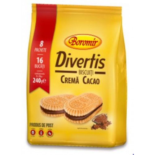 Boromir Biscuiți Divertis cacao Family Pack 240 gr*14