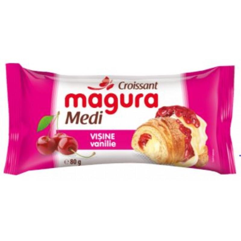 Magura Croissant Visine Vanilie Eto 65g *30