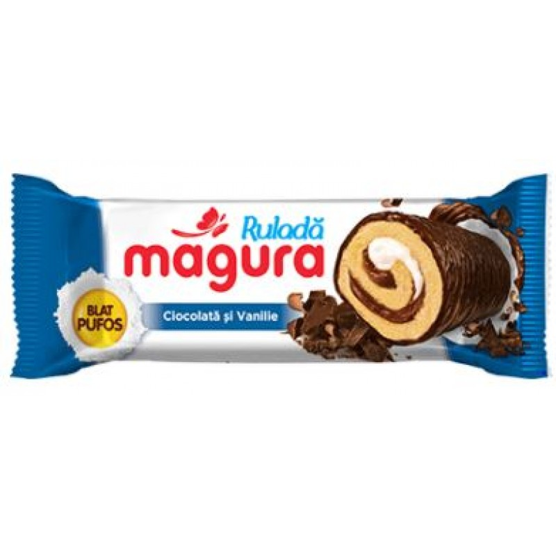 Magura Rulada Ciocolata&Vanilie 35g *20