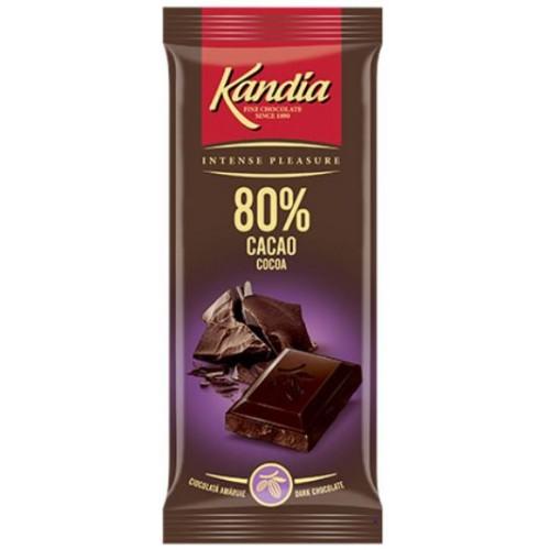 Kandia Ciocolata Dark 80%  80g *24