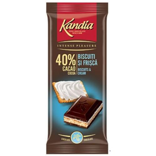 Kandia Ciocolata Dark Biscuit 115g *15