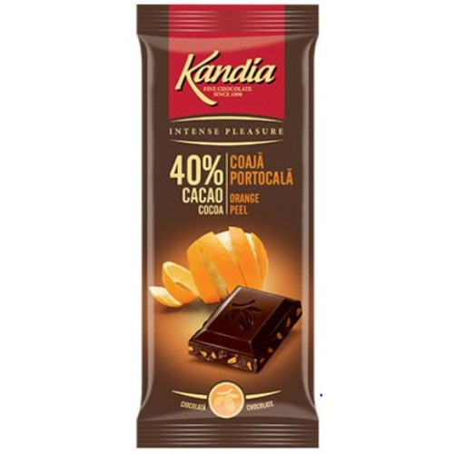 Kandia Ciocolata Dark Orange 40%  80g *24
