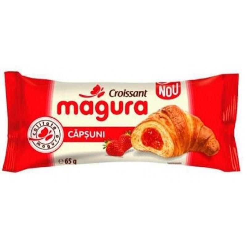 Magura Croissant Capsuni 65g *30