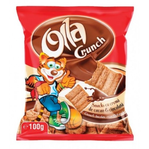 Olla crunch cacao+ciocolata 100g *24