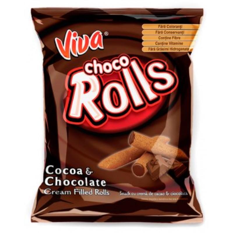 Viva choco rolls 100g *18