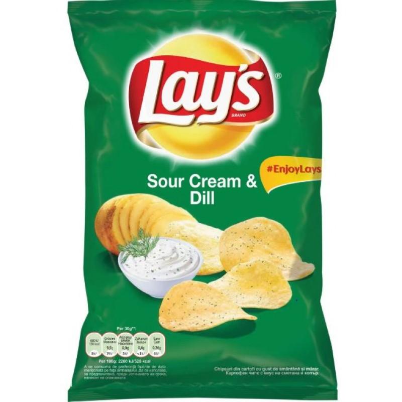 Lay's Chips cu Smantana si marar 140g *21