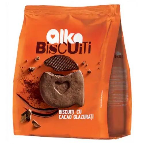 Alka Biscuitii Casei Cacao Glazurati 180g  *10