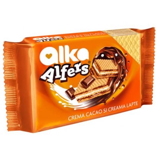 Alfers Napolitana Crema Cacao&Lapte  170g *12
