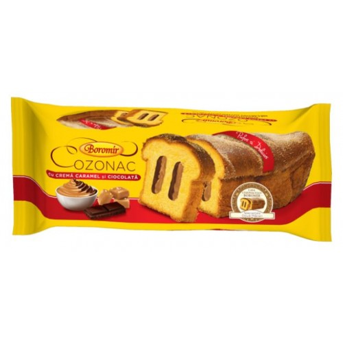 Boromir Cozonac Crema Caramel și Ciocolata-Rom 450g *9