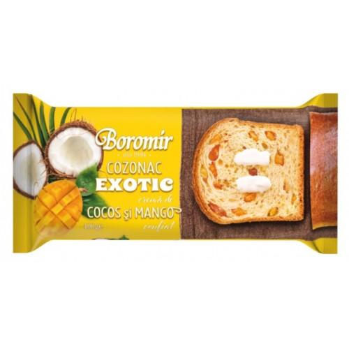 Boromir Cozonac Exotic Cr. Cocos, Mango  400g *9