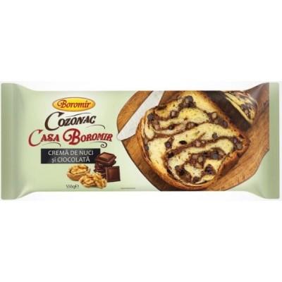 Boromir Cozonac Casa Boromir Cr. Nuci Ciocolata 550g *9