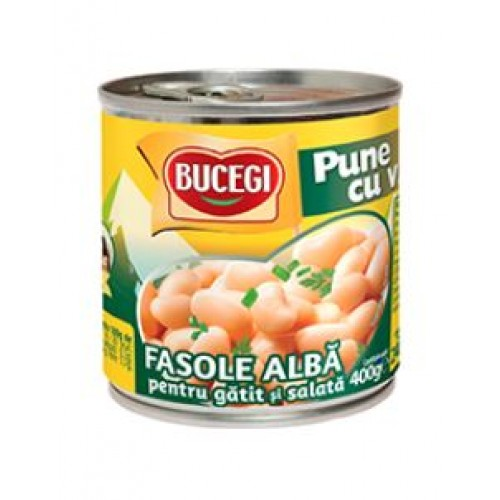 Bucegi Fasole alba de gatit si salata 400g EO *6