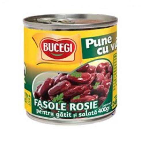 Bucegi Fasole rosie de gatit si salata 400g EO *6