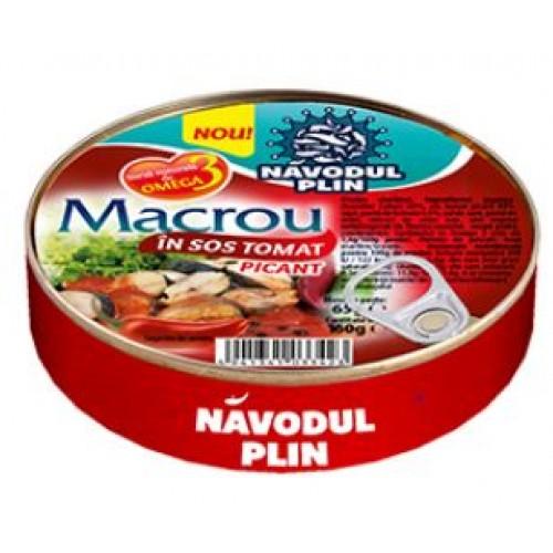 NAVODUL PLIN Macrou in sos tomat picant 160g EO *30