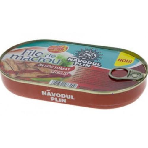 NAVODUL PLIN File de macrou in sos tomat picant 180g EO *10
