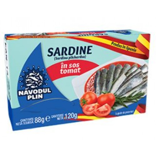 NAVODUL PLIN Sardina in sos tomat 120g EO *25