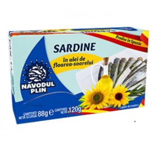 NAVODUL PLIN Sardina in ulei fl. soarelui 120g EO *25