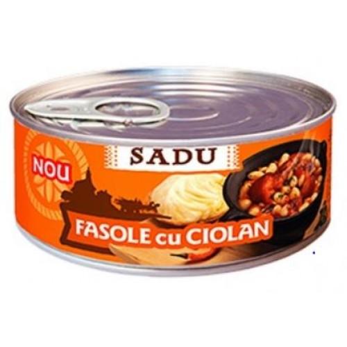 Sadu Fasole cu ciolan de porc 300g EO *6