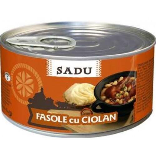 Sadu Fasole cu ciolan de porc 400g EO *6