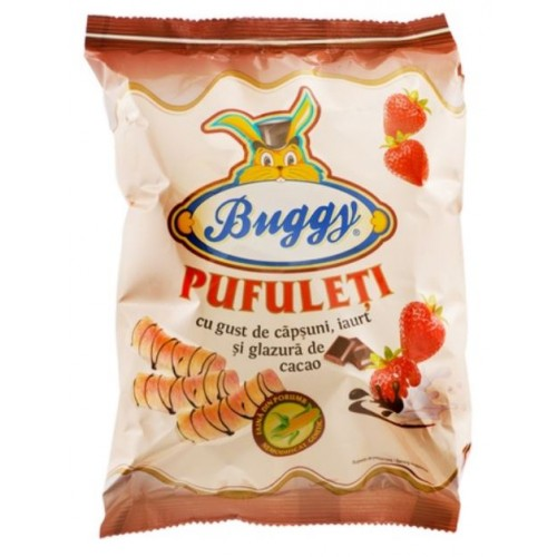 Buggy Pufuleti Iaurt Capsuni 40g *26