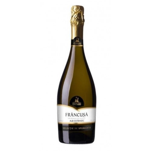 Cotnari Selectie Francusa, vin spumant, alb extrasec 0.75l