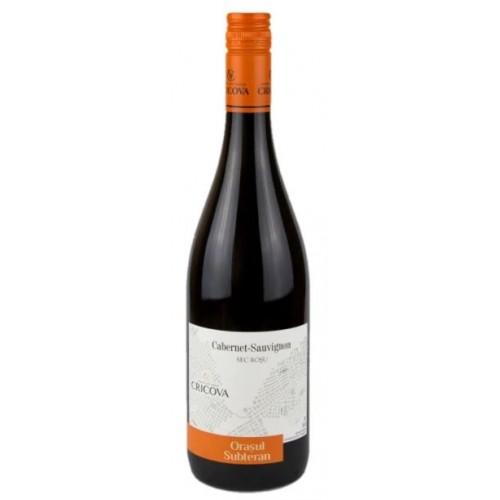 Cricova Cabernet Sauvignon Orasul Subteran rosu sec 0.75L *6