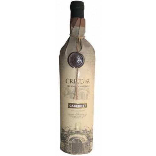 Cricova Cabernet Sauvignon rosu demidulce-hartie 0.75L *6