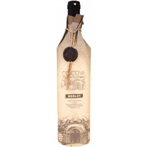 Cricova Merlot rosu demidulce-hartie 0.75L *6