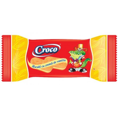 Croco Biscuiti Crema Vanilie 32g *88