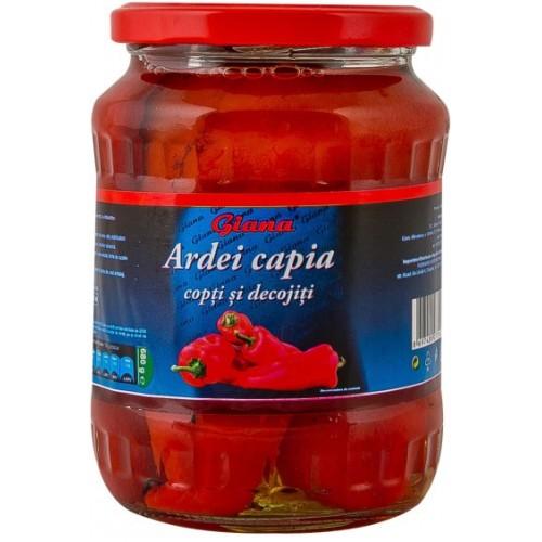 Giana Ardei Capia copt şi decojit 720 ml borcan *12