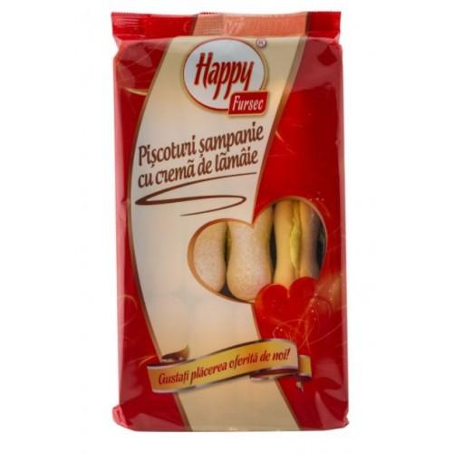 Happy Piscoturi cu Crema Lamaie 250g *9