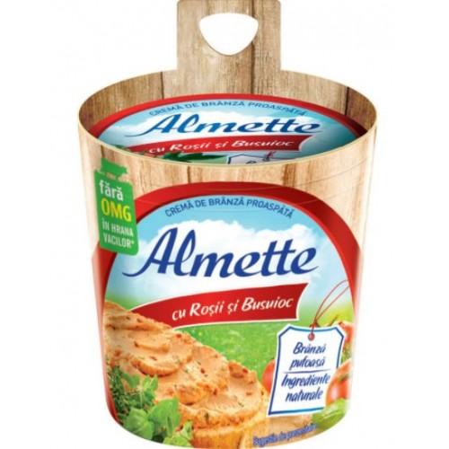 Hochland Almette Crema de branza-rosii si busuioc 150g *8