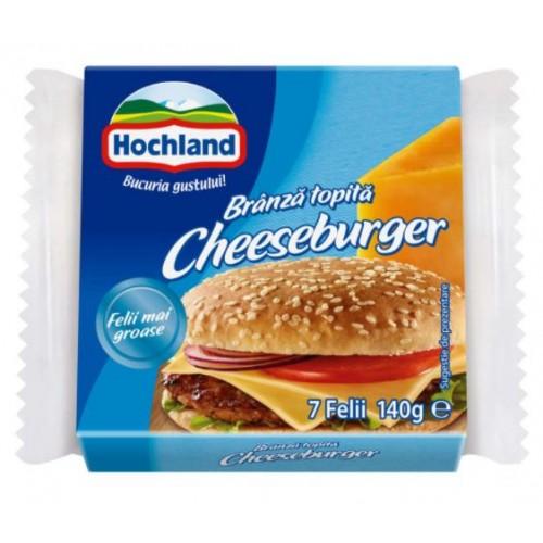 Hochland Branza topita felii cheeseburger, 7 felii 140g *32