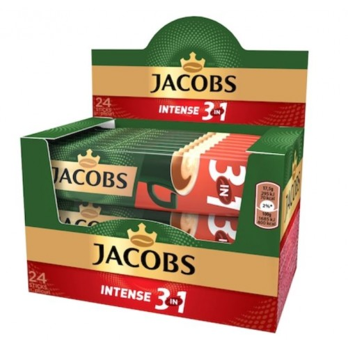 Jacobs 3in1 Intense 17,5g  *24 displ