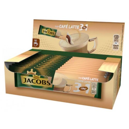 Jacobs 3in1 Latte 12.5g *10 displ