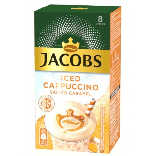 Jacobs Iced Cappuccino Salt Caramel 17.8g *8 displ
