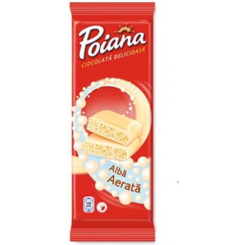 Poiana Ciocolata Aerata Alba 80g *12