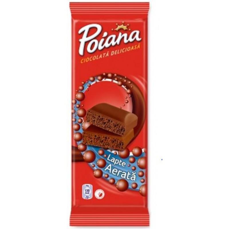 Poiana Ciocolata Aerata Lapte 80g *12