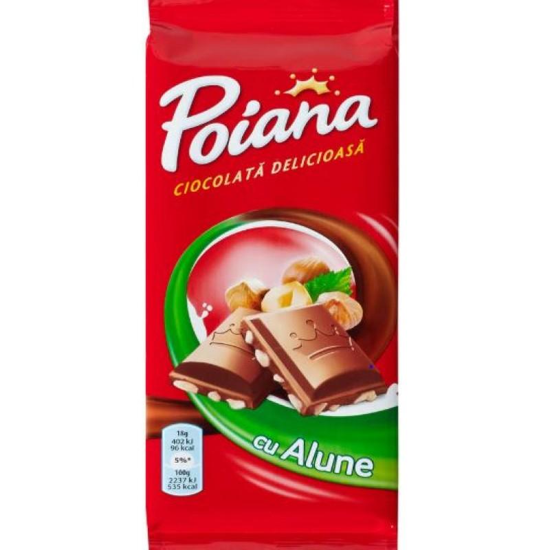Poiana Ciocolata Alune 90g *22