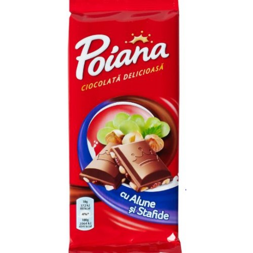Poiana Ciocolata Alune & Stafide 90g *22